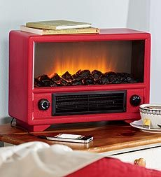 Just too cute and Perfect for the Vintage Camper! retro-style-radio-heater