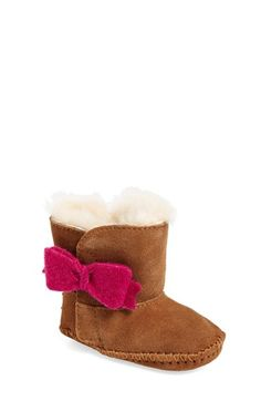 UGG®+Australia+'Cassie'+Bow+Embellished+Boot+(Baby+&+Walker)+available+at+#Nordstrom