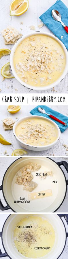 Crab Soup - only FIVE ingredients and done in less than 30 minutes!