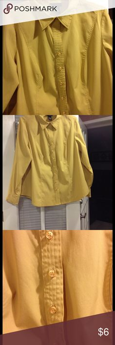 Size 18-20 Lane Bryant blouse good condition Size 18-20 Lane Bryant mustard color blouse good condition Lane Bryant Tops Button Down Shirts