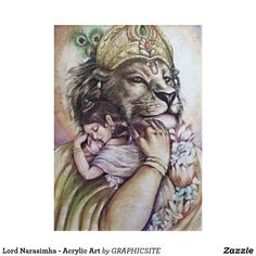 Lord Narasimha - Acrylic Art