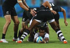 Jerry Tuwai of Fiji in action during a quarterfinal match against New Zealand. David Rogers/Getty Images