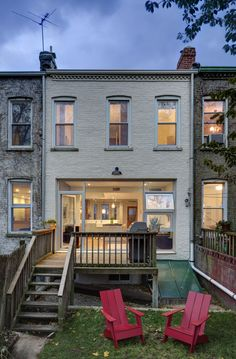 Brooklyn Rowhouse - traditional - exterior - new york - Barker Freeman Design Office Architects pllc Interior Exterior, Exterior Design, Home Renovation, Home Remodeling, Lofts, Large Backyard Landscaping, Traditional Exterior, Townhouse, New Homes