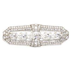 Platinum, Gold and Diamond Brooch, Tiffany & Co., Circa 1920   Sotheby's
