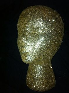 Glitter and Sparkle wig head for decorative purposes, holding wigs, or salon decorations.  Any color you'd like.