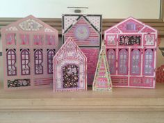 Santa's Village Advent Calendar from SVG Cuts, pretty in pink!