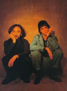 Designer Yohji Yamamoto & Christy Turlington by Patrick Demarchelier (1990)