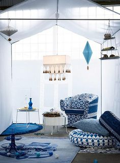 true blue by ikea by the style files, via Flickr
