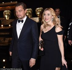 Moment of triumph: While this is Leo's very first BAFTA, Winslet now boasts three of the trophies to her name