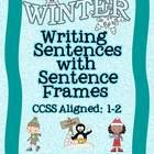 Freebie! This is an ELA Common Core Aligned Packet to help students in grades 1-2 Write Sentences about Winter using Sentence Frames. Whole Group and Center Activities
