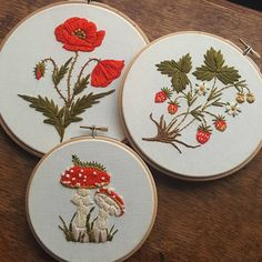 All of these will be for sale soon! Keep your peepers peeled for more info .  #embroidery #handembroidery #embroideryhoop #embroideryart #botanical #handmade #handstitched #crafts #nature #wildlife #em_hm #embroideryinstaguild