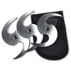 Yin Yang Talon Throwing Star Set For Sale   AllNinjaGear.com - Largest Selection of Ninja Stars, Throwing Stars, and Shuriken