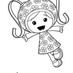 team umizoomi milli and her pattern power in team umizoomi coloring page milli and coloring pages - Team Umizoomi Coloring Pages