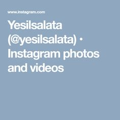 Yesilsalata (@yesilsalata) • Instagram photos and videos