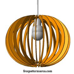 Plywood MDF Lamp Shade Co2 Laser Cut Designs Free Download