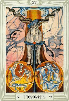 Thực hư The Devil - Aleister Crowley Thoth Tarot bài tarot