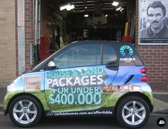 Real Estate Vehicle Wrap, Smart Car