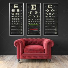retail eyewear in-store poster Medical Office Design, Office Interior Design, Optic Logo, Optometry Office, Eye Chart, Eye Exam, Clinic Design, Chart Design, Typography Poster