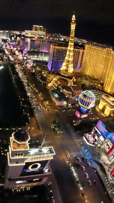Night, Venetian, Hotel, Eiffel Tower, Las Vegas, Nevada, United States,