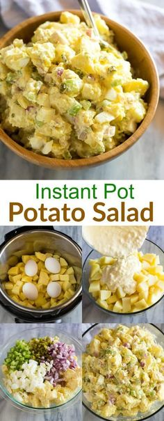The BEST Instant Pot Potato Salad made with eggs (cooked with potatoes at the same time) in the instant pot. No steamer basket or special equipment needed. via pot recipes potatoes Instant Pot Potato Salad Best Instant Pot Recipe, Instant Pot Dinner Recipes, Instant Recipes, Instant Pot Pressure Cooker, Pressure Cooker Recipes, Easy Salad Recipes, Healthy Recipes, Easy Potato Salad, Instapot Potato Salad