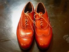 Vintage Brown Leather Brogue Shoes UK 9.5