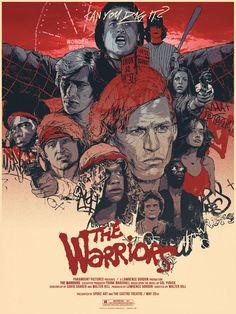 The Warriors 1979 (by Grzegorz Domaradzki) Best Movie Posters, Cinema Posters, Movie Poster Art, Cool Posters, Horror Posters, Movies And Series, Cult Movies, Tv Series, Drama Movies