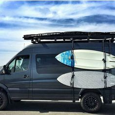 @goneprobro checking out the waves at #halfmoonbay in his #mercedes #sprintervan…