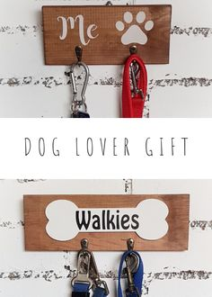 Selection of wooden key and lead holders for happy dog owners! Check our shop for housewarming gifts which your friends will use. Gifts For Dog Owners, Dog Lover Gifts, Dog Gifts, First Home Gifts, New Home Gifts, Rustic Signs, Wooden Signs, Hallway Decorating, Entryway Decor