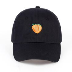 1f0590fe272 VORON 2017 Pure color cotton cap peach embroidery baseball cap fashion men  and women adjustable adult sunscreen hip hop hat