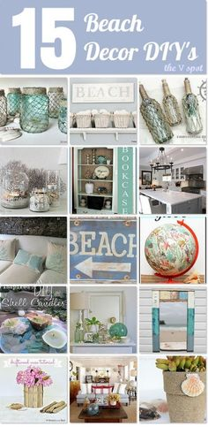 15 Beach Decor DIYs - Great projects you can DIY to spruce up your decor!