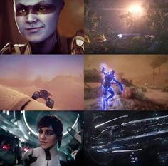 Screenshot compilation from the 2016 E3 Mass Effect Andromeda Trailer