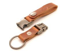 Quick Detach Latigo Leather Belt Clip Keychain with by EchoSix