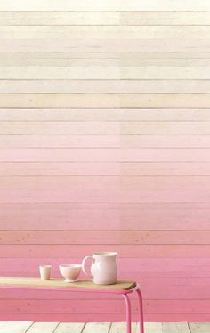 Cream to pink ombre wall Apartment Walls, Pink Walls, Ombre Walls, Blog Deco, Color Stories, My Dream Home, Textures Patterns, Color Inspiration, Pretty In Pink