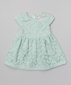 Look what I found on #zulily! Green Lace Skater Dress - Toddler & Girls by Paulinie #zulilyfinds