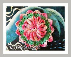 'Tita Carre' Tita Carré - Agulha e Tricot : Flor em alto relevo e a Pequena Sereia