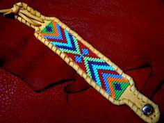 SALE... Native American Beadwork  Deerskin by TribalVibesLeather, $48.00