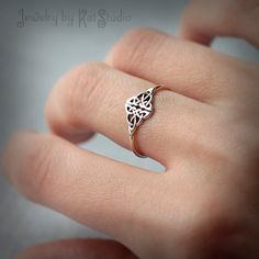 Celtic Knot Ring  Infinity knot  love knot ring  by Katstudio, $23.00