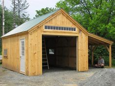 Another 14' x 20' One Bay Garage. Note: the true lite sash windows are hinged to open. Available as shed kits (estimated assembly time - 2 people, 30 hours), DIY shed plans ($50), or a customized fully assembled garage. http://jamaicacottageshop.com/shop/one-bay-garage/ http://jamaicacottageshop.com/wp-content/uploads/pdfs/pdf14x20onebaygarage.pdf