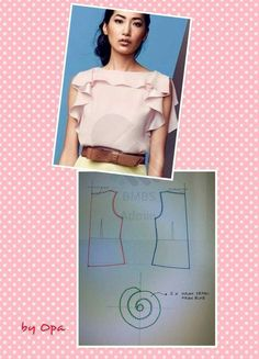Amazing Sewing Patterns Clone Your Clothes Ideas. Enchanting Sewing Patterns Clone Your Clothes Ideas. Dress Sewing Patterns, Blouse Patterns, Clothing Patterns, Blouse Designs, Fabric Sewing, Fashion Sewing, Diy Fashion, Ideias Fashion, Costura Fashion