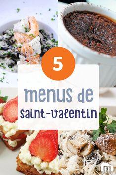5 menus de Saint-Valentin /// #menus #recette #cuisine #saintvalentin #amour #marmiton