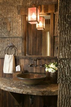 This Dream #Bathroom will make you think you are in your Childhood Treehouse! http://www.remodelworks.com/