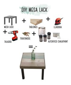 diy ikea lack, mesa con madera y chalkpaint Billy Ikea, Ikea Lack, Ikea Furniture, Chalk Paint, Home Projects, Diy Design, Sweet Home, Home Decor, Ikea Ideas