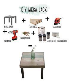 hack de ikea #chalkikeando. tunear una mesa lack con madera y chalkpaint