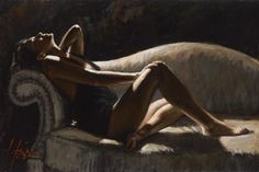 """Fabian Perez  """"Paola on the Couch"""""""