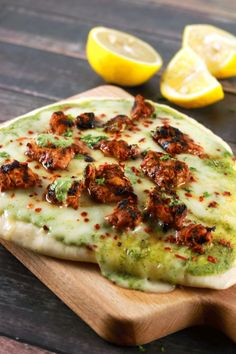 Love pizzas? Love Indian food? Then you'll absolutely LOVVEE this Stovetop Tandoori Tikka Naan Pizza recipe! Plus you don't need an oven for it! YUMM!!!