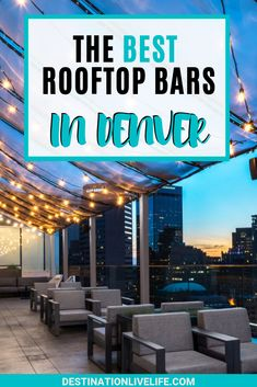 Looking to get high in Denver? No better way than a drink (or five) at the best rooftop bars in Denver! This list will have all your best options covered. Denver Bars, Denver City, Denver Travel, Travel Usa, Travel Oklahoma, Road Trip To Colorado, Denver Colorado Vacation, Living In Denver Colorado, Weekend In Denver