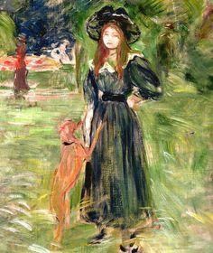 Berthe Morisot (1841-1895), 1893, Dans le Bois de Boulogne, Paris.