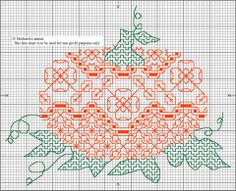 Cross-stitch Pumpkin... no color chart available, just use pattern chart as your color guide.. or choose your own colors...