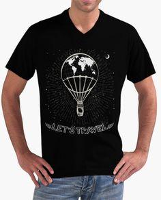 """FLIP DISEÑOS ORIGINALES. Camiseta """"Let`s travel"""": Viaja en globo aerostático por el mundo real o un mundo imaginario. Tienda online: www.latostadora.c... FLIP ORIGINAL DESIGNS. T-shirt """"Let's travel"""". Travel in hot air balloon for the real world or an imaginary world. #globo_aerostático #hot_air_balloon #moon #luna #alas #wings #stars #estrellas #fashion #moda #diseño #design #camisetas #Tshirt"""