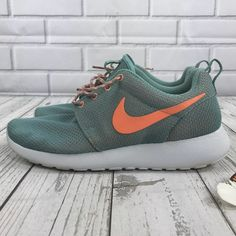 new style d5d06 5182d Nike Shoes   Nike   Rosherun Teal Orange Sneakers 8   Color  Orange White    Size  8